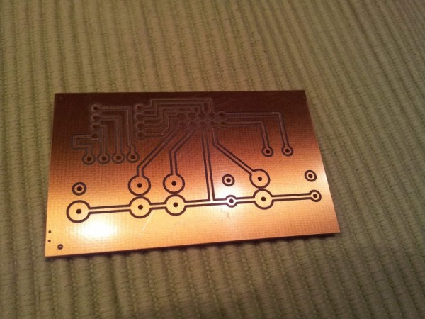 First PCB Board fresh out of the home production