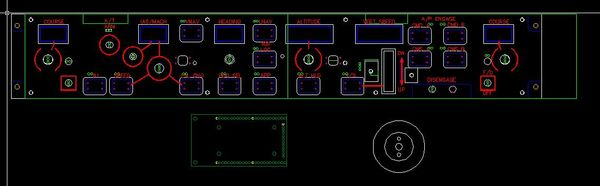 Autocad File with the different layers of the panel. You also can see the rought layout of the Pokeys Card.