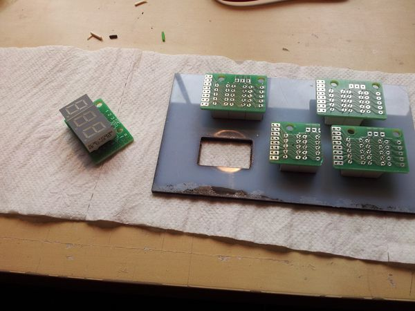 Detail pic of the Holder panel i made for the 7 segment displays