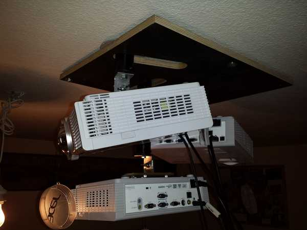 Close-Up of the Projector Holder